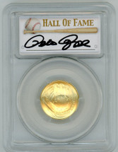 2014-W $5 Gold Baseball Hall of Fame MS70 PCGS Pete Rose signature