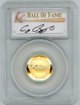 2014-W $5 Gold Baseball Hall of Fame PR70 PCGS Craig Biggio signature