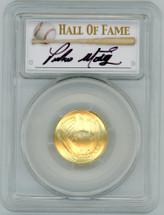 2014-W $5 Gold Baseball Hall of Fame MS70 PCGS Pedro Martinez signature