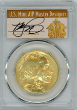 2016 $50 Gold Buffalo MS70 PCGS 10th Anniversary First Strike T. Cleveland Art Deco