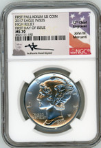 2017 $25 Palladium Eagle MS70 NGC High Relief FDOI First Palladium US Coin Mercanti