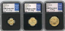2016 W Gold 3-Coin Set (10C, 25C, 50C) SP70 NGC Early Releases Moy