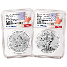 2019 Pride of Two Nations Set Modified PF70 ML & Enhanced Rev PF70 ASE NGC Early Releases