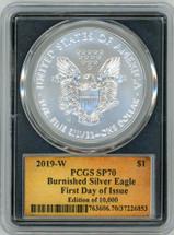2019-W Burn ASE SP70 PCGS FDOI Ed. Of 10,000 T. Cleveland scroll black core