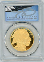 2012-W $50 Gold Proof Buffalo PR70 PCGS Thomas Cleveland Blue Eagle POP 1