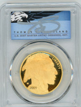 2009-W $50 Proof Gold Buffalo PR70 PCGS Thomas Cleveland Blue Eagle POP 1