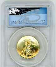 2009 $20 Gold Double Eagle MS70PL PCGS UHR First Strike Thomas Cleveland Blue Eagle POP 1