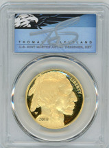 2018-W $50 Proof Gold Buffalo PR70 PCGS Thomas Clveland Blue Eagle POP 3