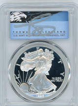 1998-P $1 Proof Silver Eagle PR70 PCGS T Cleveland Blue Eagle *POP 2*