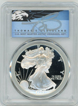2000-P $1 Proof Silver Eagle PR70 PCGS T Cleveland Blue Eagle *POP 2*