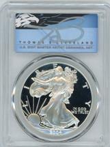 2004-W $1 Proof Silver Eagle PR70 PCGS T Cleveland Blue Eagle *POP 2*