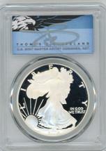 2006-W $1 Proof Silver Eagle PR70 PCGS T Cleveland Blue Eagle *POP 2*