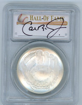 2014-P $1 Silver Baseball Hall of Fame MS70 PCGS Iron Man Collection Cal Ripken Jr signature