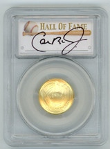 2014-W $5 Gold Baseball Hall of Fame MS70 PCGS Iron Man Collection Cal Ripken Jr signature