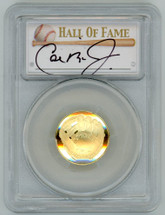 2014-W $5 Gold Baseball Hall of Fame PR70 PCGS Iron Man Collection Cal Ripken Jr signature