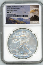 2015 W Burnished ASE MS70 NGC First Releases eagle label
