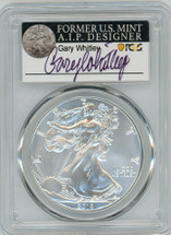 2019 $1 1 oz Silver Eagle MS70 PCGS Gary Whitley label *POP 25*