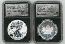2019 Pride of Two Nations Set US Set, Modified PF70 ML & Enhanced Rev PF70 ASE NGC FDOI J. Mercanti (ASE) and S. Taylor (ML) signed