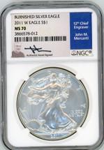 2011 W Burn ASE MS70 NGC Mercanti blue label
