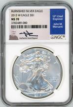 2013 W Burn ASE MS70 NGC Mercanti blue label