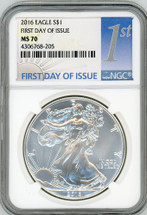 2016 ASE MS70 NGC First Day of Issue 1st label