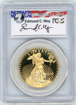 2013-W $50 Proof Gold Eagle PR70 PCGS First Strike Moy r/w/b