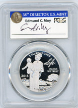 2018-W Proof $100 Platinum Eagle - Life PR70 PCGS First Strike 38th Director US Mint Ed Moy