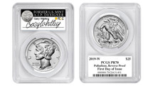 2019-W $25 Palladium Reverse Proof PR70 PCGS FDOI Whitley Pop 50