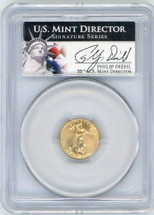 2013 $5 Gold Eagle MS70 PCGS Philip Diehl