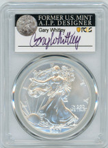 2007-W $1 Burnished Silver Eagle SP70 PCGS Gary Whitley