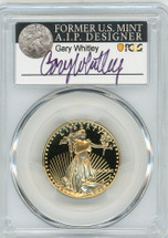 1990-P $25 Proof Gold Eagle PR70 PCGS Gary Whitley