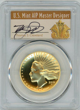 2019-W $100 Gold Liberty High Relief Enhanced SP70DMPL PCGS FDOI T. Cleveland Art Deco