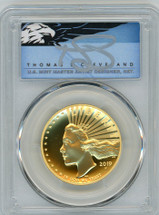 2019-W $100 Gold Liberty High Relief Enhanced SP70PL PCGS First Strike T. Cleveland blue eagle