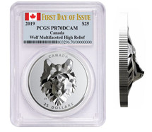 2019 Wolf Multifaceted High Relief PCGS PR70 First Day of Issue WATCH THE VIDEO