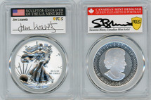 2019 2PC Pride of Two Nations PCGS RPR70/PR70 FDOI BLUNT leaf/LICARETZ Ottawa
