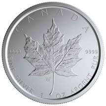 "2020 W $5 Canada Silver Maple Leaf (First ""W"") Mintmark BU w/OGP"