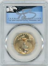 1998 $25 Gold Eagle MS70 PCGS T. Cleveland blue eagle