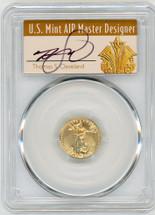 2020 $5 Gold Eagle MS70 PCGS FDOI T. Cleveland Art Deco