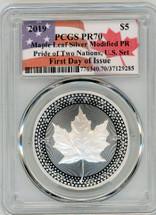 2019-W Pride of Two Nations, U.S. Set $5 ML Modified PR70 ASE PCGS FDOI flag smash label