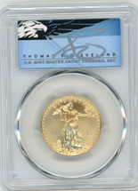 2020 $25 Gold Eagle MS70 PCGS First Day of Issue T Cleveland Blue Eagle