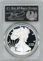 2020-W $1 Proof Silver Eagle PR70  PCGS FDOI T Cleveland Freedom
