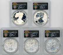 2011 ASE 5-Coin Set MS/PR70/SP70 PCGS 25th Anniv First Strike T. Cleveland Torch