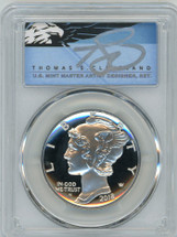 2018-W $25 Palladium PR70 PCGS First Strike T. Cleveland blue eagle