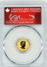2014 $5 Canada Gold Incused Maple Leaf PR70 PCGS S. Blunt