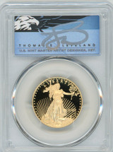 2020-W $25 Proof Gold Eagle PR70 PCGS First Strike T Cleveland Blue Eagle