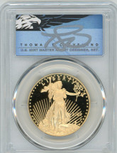 2020-W $50 Proof Gold Eagle PR70 PCGS First Strike T Cleveland Blue Eagle