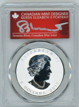2017 $5 Maple Leaf Canada Rooster Privy SP70 PCGS S. Blunt POP 4