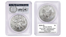 2020-(P) Silver Eagle PCGS MS70 Emergency Issue Struck at Philadelphia First Strike TC Wreath