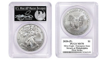 2020-(P) Silver Eagle PCGS MS70 Emergency Issue Struck at Philadelphia First Strike TC Freedom