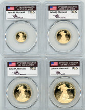 2020-W Proof Gold Eagle 4-coin Set ($5,10,25,50) PR70 PCGS Mercanti